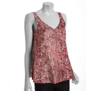 NWOT Marc Jacobs Abstract Floral Silk Top - Pink